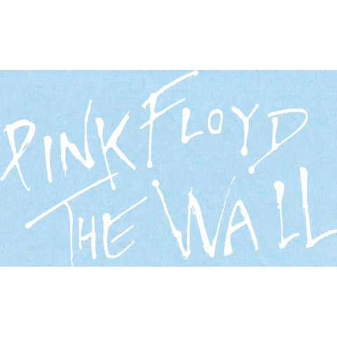 Pink Floyd Logo Rub On Sticker - White