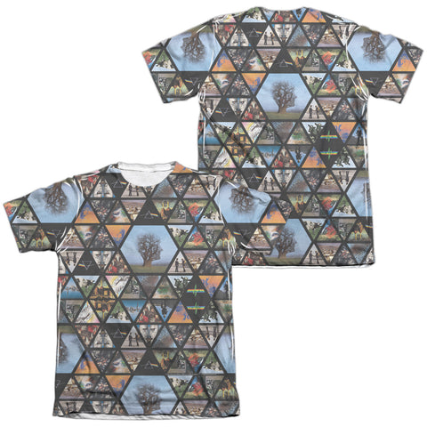 Pink Floyd Special Order Photographs (Front/Back Print) Men's Regular Fit 65% Poly 35% Cotton Short-Sleeve T-Shirt