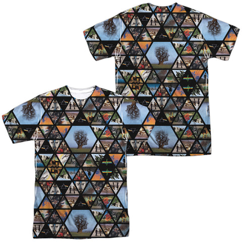 Pink Floyd Special Order Photographs (Front/Back Print) Men's Regular Fit 100% Polyester Short-Sleeve T-Shirt