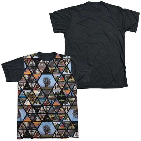 Pink Floyd Special Order Photographs Men's Black Back Regular Fit 100% Polyester Short-Sleeve T-Shirt