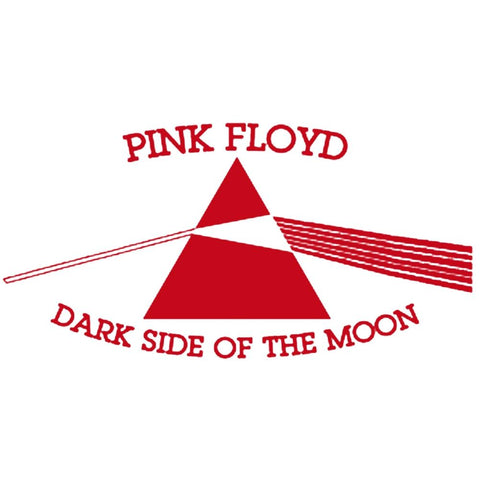 Pink Floyd Dark Side Of The Moon Rub-On Sticker - Red