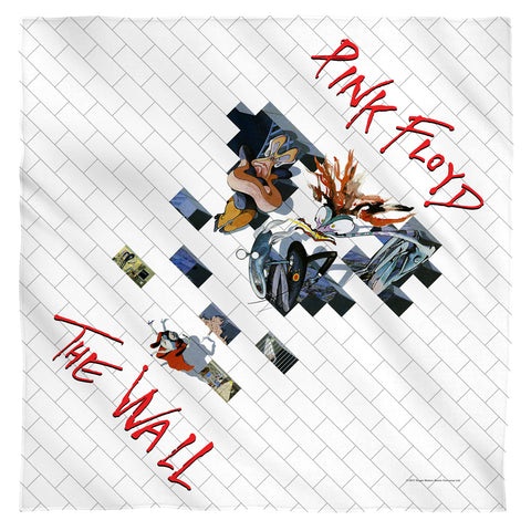 Pink Floyd Special Order The Wall 2 100% Polyester Bandana - 21 x 21 inches - 1-Sided