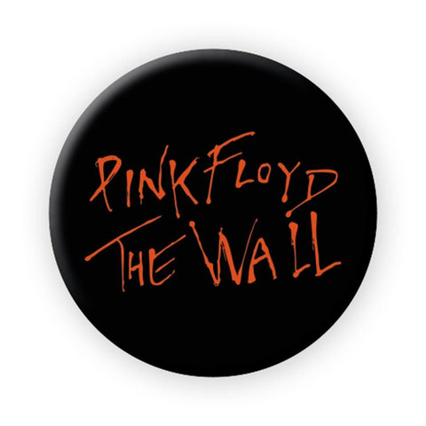 Pink Floyd Orange Wall Logo Button