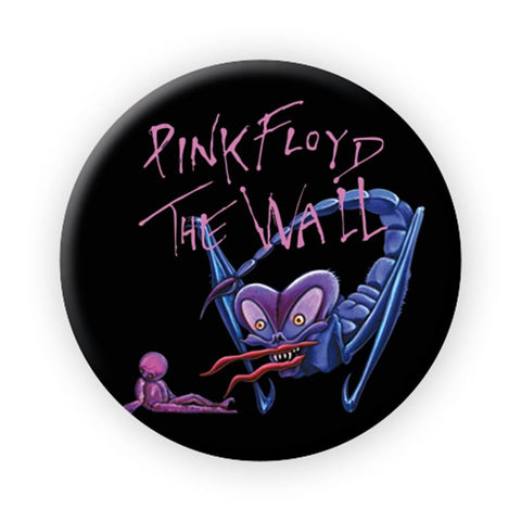 Pink Floyd The Wall Scorpion Button