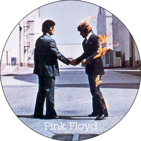 Pink Floyd Wish You Were Here Burning Man Button