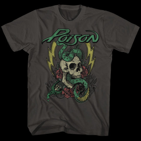 Poison Special Order Colored Tattoo Adult S/S T-Shirt