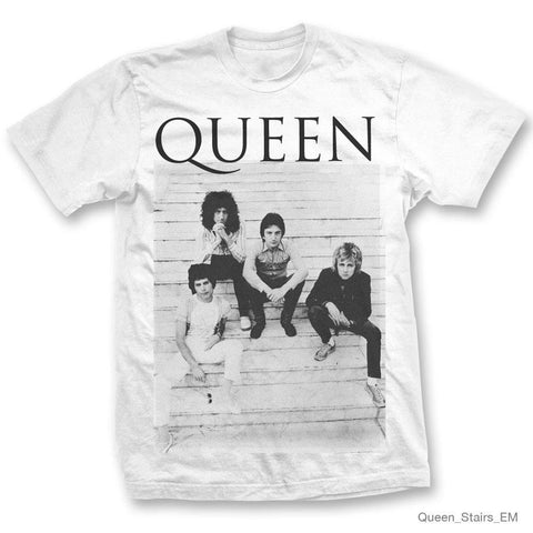 Queen Stairs White Men's T-Shirt