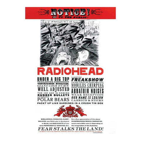 Radiohead Fear Poster