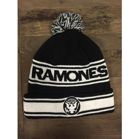 Ramones Black And White Logo Beanie