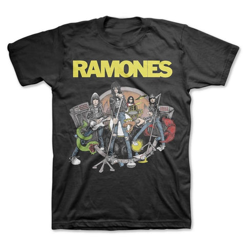 Ramones Live Cartoon Vintage Men's T-Shirt