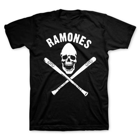 Ramones Pinhead Skull With Bats Men's T-Shirt