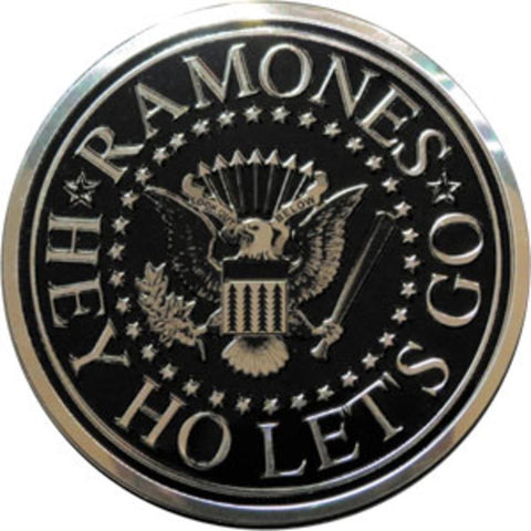 Ramones Seal on Silver Sticker - Large