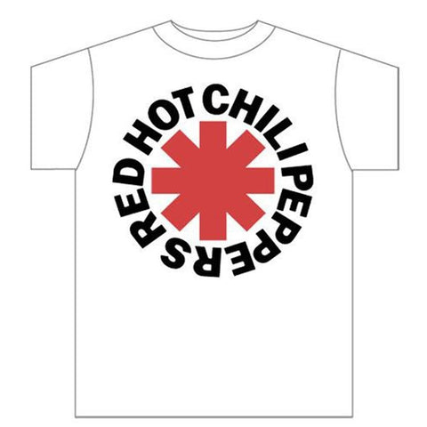 Red Hot Chili Peppers Asterisk Logo White Men's T-Shirt