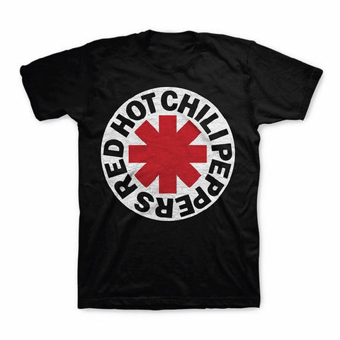 Red Hot Chili Peppers White Circle Asterisk Men's T-Shirt