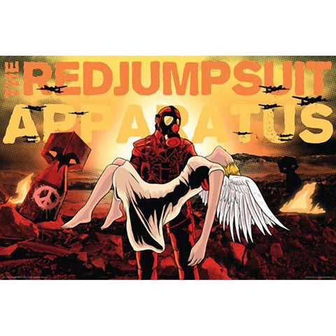 Red Jumpsuit Apparatus Comic Wall Poster