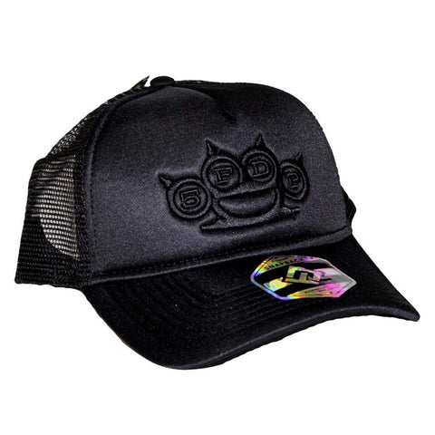 Five Finger Death Punch Black on Black Snapback Hat