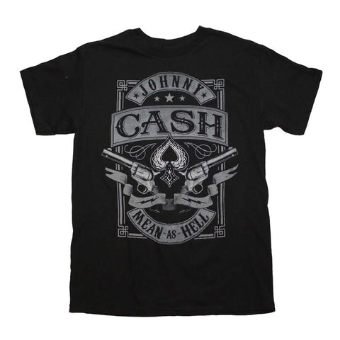 Johnny Cash Mean as Hell T-Shirt