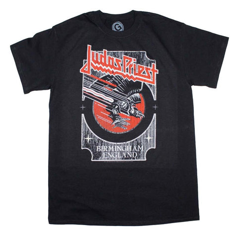Judas Priest Silver and Red Vengeance T-Shirt