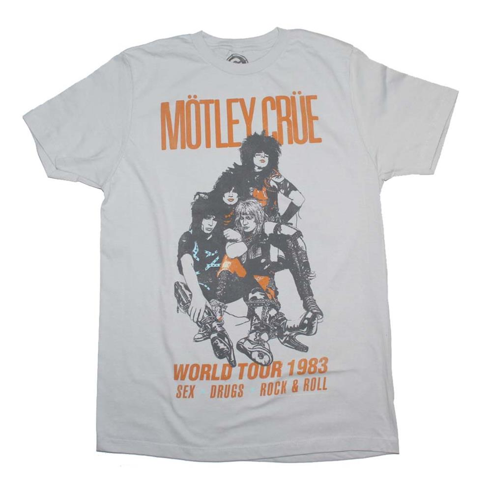 Motley Crue Vintage Inspired World Tour 1983 T Shirt