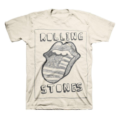 Rolling Stones Sketch Us Tongue Men's T-Shirt