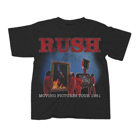 Rush Moving Pictures World Tour 1981 Big Men's T-Shirt