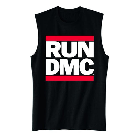 Run DMC Classic Logo Men's Muscle Tank T-Shirt