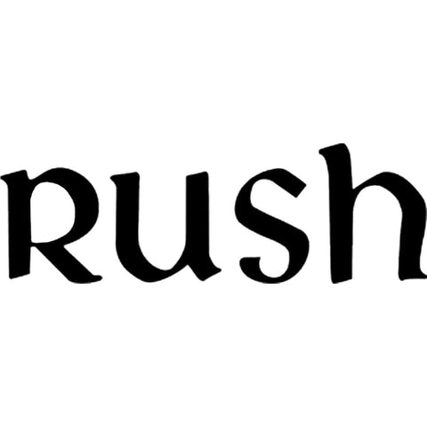 Rush New Logo Rub-On Sticker - Black