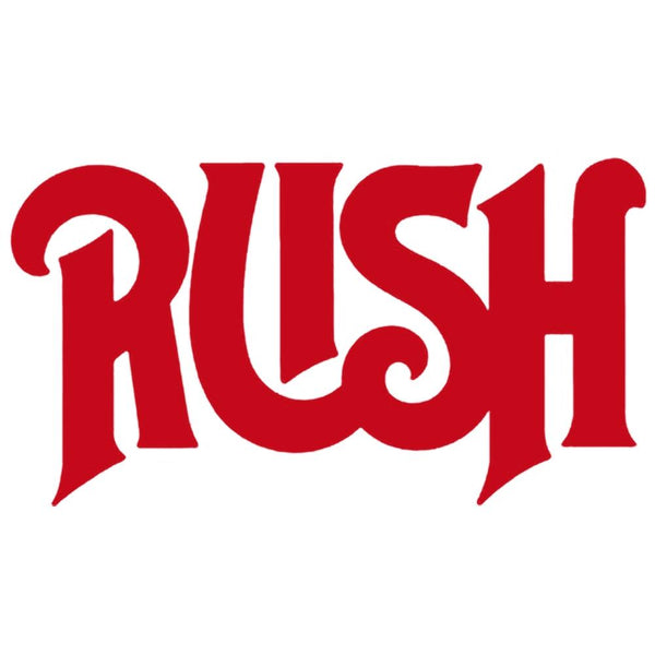 Rush old logo rub on sticker red rock com
