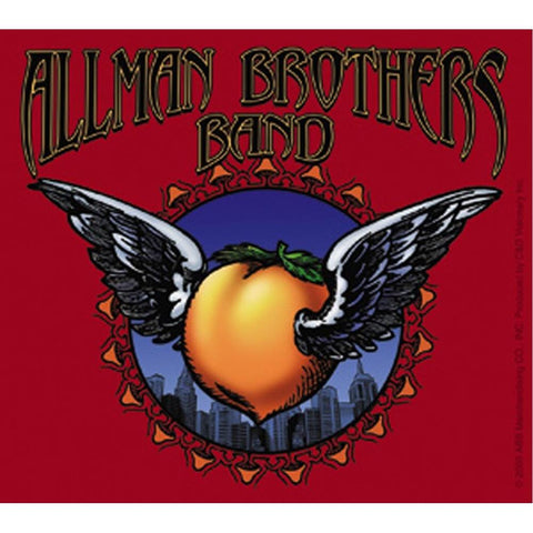 Allman Brothers Winged Peachsticker