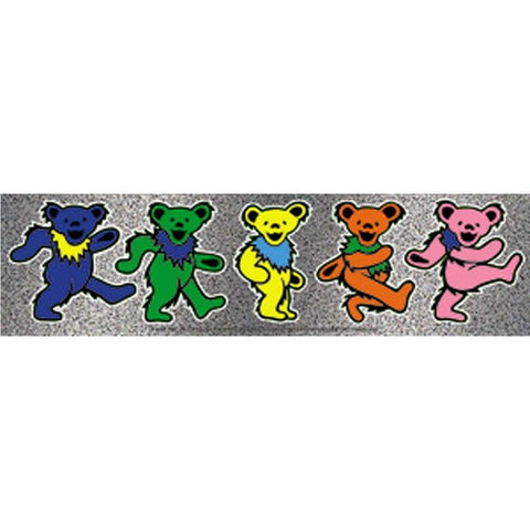 The Grateful Dead Dancing Bears Strip Sticker
