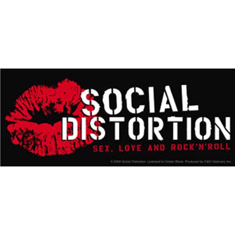 Social Distortion Lip Logo Sticker