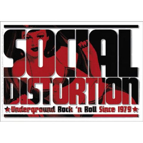 Social Distortion Logo Sticker