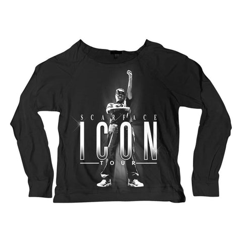 Scarface Icon Tour Women's Limited Edition Long Sleeved Scoop Neck T-Shirt