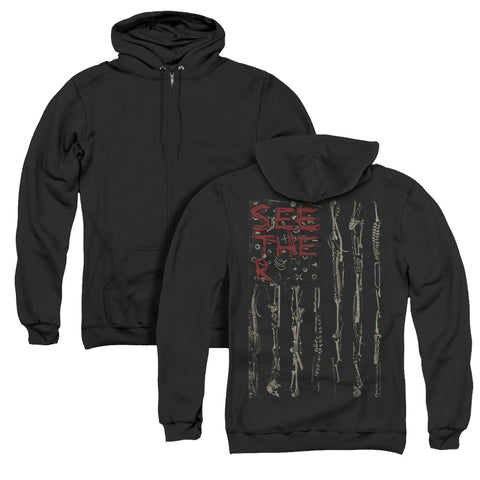 Seether Bone Flag (Back Print) Men's Pull-Over Hoodie