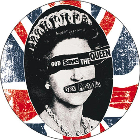 Sex Pistols God Save The Queen Button