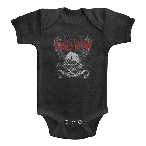 Skid Row Special Order Skull & Wings Infant S/S Heather Bodysuit