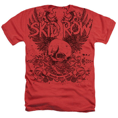 Skid Row Special Order Skull And Wings Men's 30/1 60% Cotton 40% Poly Short-Sleeve Heather T-Shirt