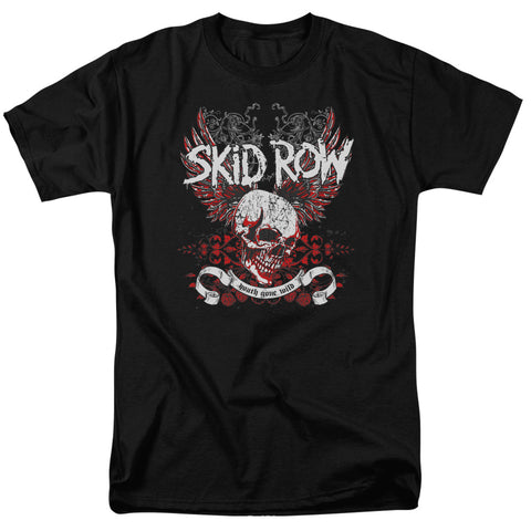 Skid Row Special Order Winged Skull Men's 18/1 100% Cotton Short-Sleeve T-Shirt