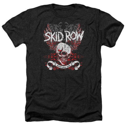 Skid Row Special Order Winged Skull Men's 30/1 Heather 60% Cotton 40% Poly Short-Sleeve T-Shirt