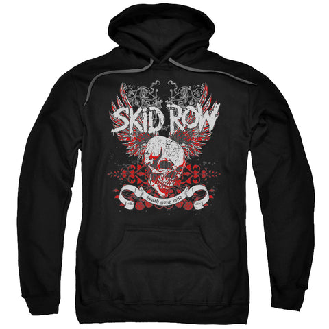 Skid Row Special Order Winged Skull Men's Pull-Over 75% Cotton 25% Poly Hoodie
