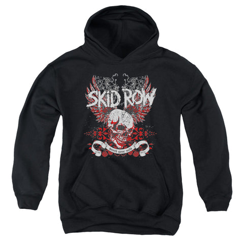 Skid Row Special Order Winged Skull Youth 50% Cotton 50% Poly Pull-Over Hoodie