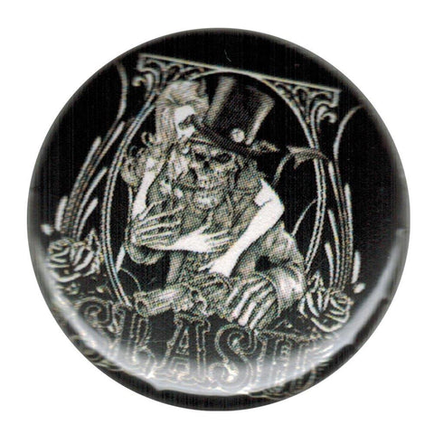 Slash Skeleton Small Round Button
