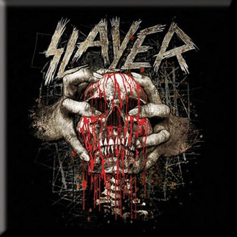 Slayer Skull Clench Fridge Magnet
