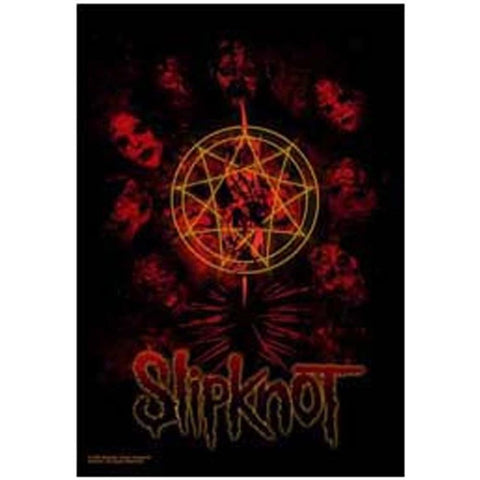 Slipknot Death Masks Fabric Poster