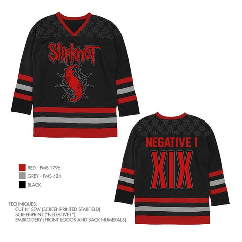 Slipknot Negative 1 XIX Hockey Jersey
