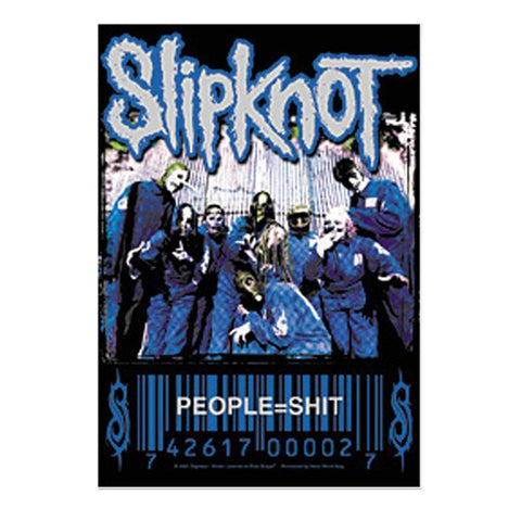 Slipknot People=Shit Barcode Fabric Poster