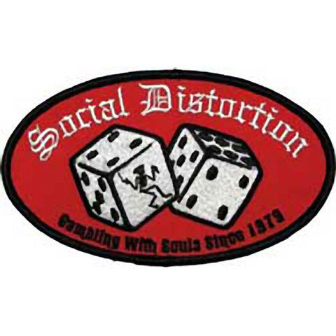 Social Distortion Dice Embroidered Patch