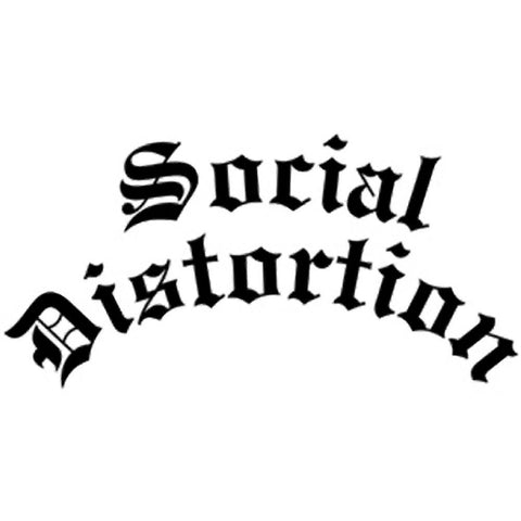 Social Distortion Gothic Logo Rub On Sticker - Black