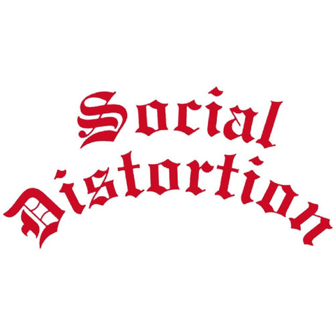 Social Distortion Gothic Logo Rub On Sticker - Red