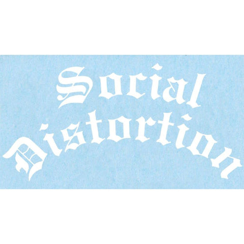 Social Distortion Gothic Logo Rub On Sticker - White